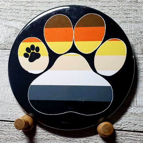 "Bear 3.5"" Pride Paw Button"