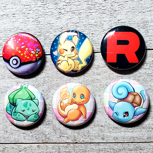 "Choose your Starter Pokemon 1"" Button"