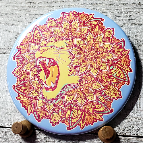 "Lion 3.5"" Button"