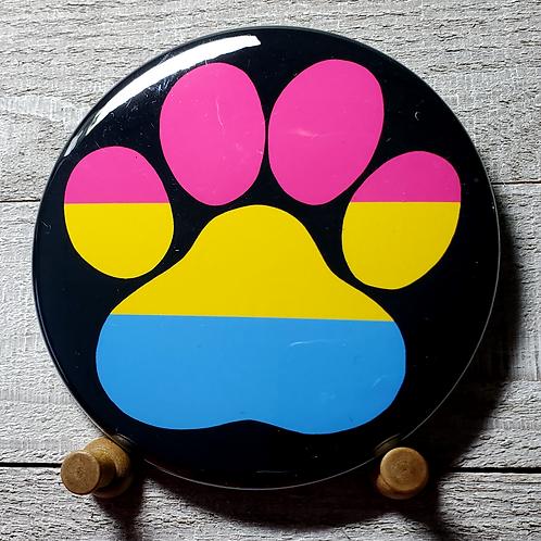 "Pan-Sexual  3.5"" Pride Paw Button"