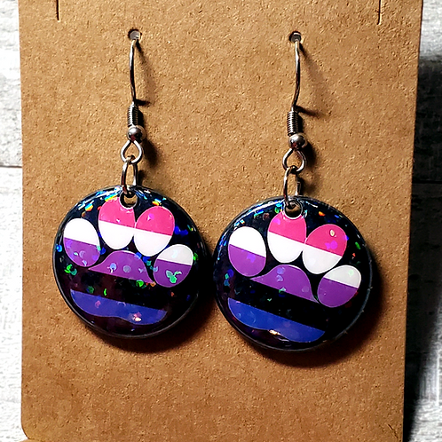 "Gender Fluid 1""Earrings"