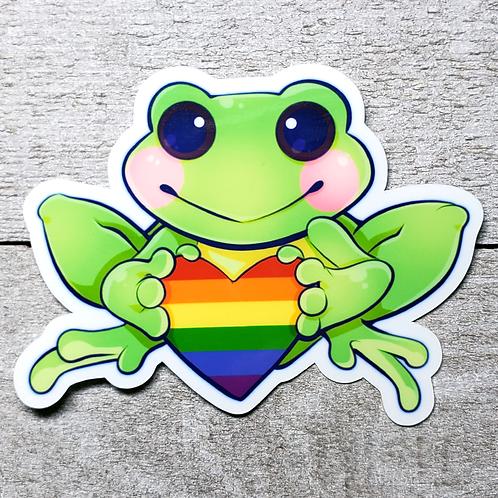 Gay Pride Frog