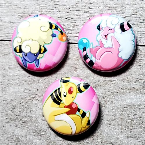 "Sheep Pokemon 1"" Button"