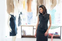 Kay Top & Cee Skirt (Black Check)