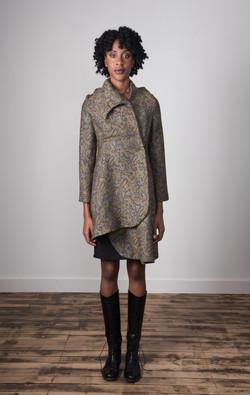 Samantha Coat Closed - Taupe