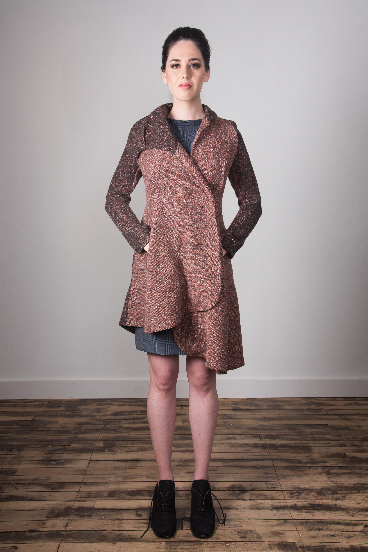 Samantha Coat Closed - Mauve
