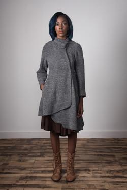 Samantha Coat Closed - Grey