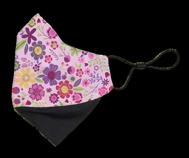 Springtime Floral Ear Loop Reversible Mask