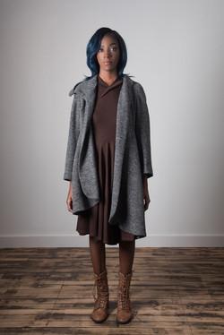 Samantha Coat Open - Grey