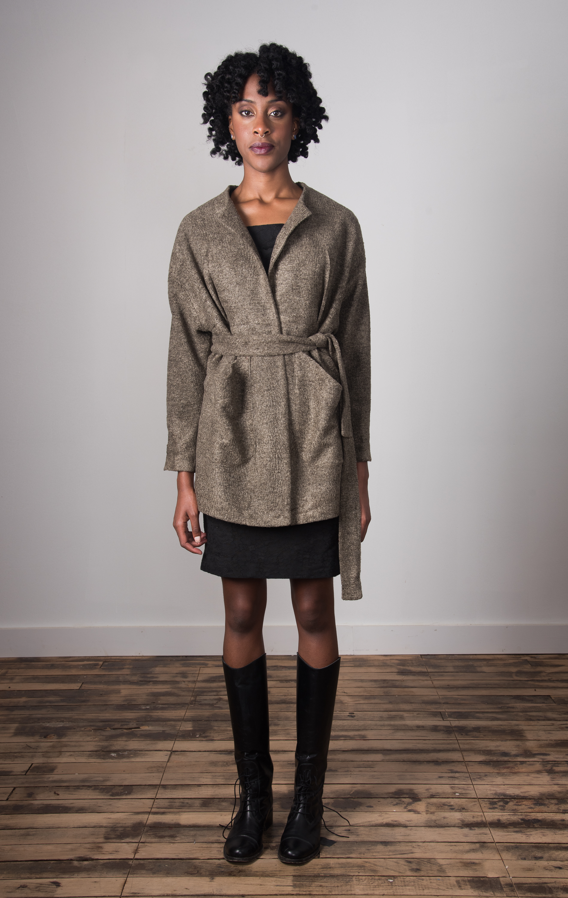 Clester Coat Belted - Taupe