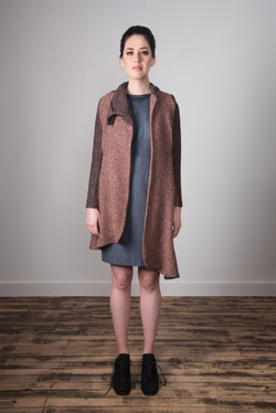 Samantha Coat Open - Mauve