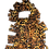 Thumbnail: Leopard Fringe Scarf & Ear Loop Mask Set