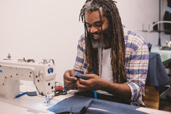 Neville sewing