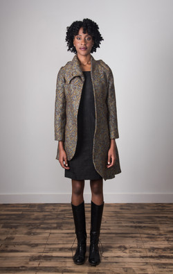 Samantha Coat Open - Taupe