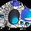 Thumbnail: Blue Orb Ear Loop Reversible Mask