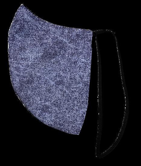 Acid Wash Denim Single Elastic Reversible Mask