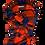 Thumbnail: Red & Navy Plaid Fringe Scarf & Ear Loop Mask Set