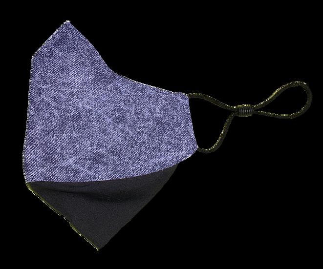 Acid Wash Denim Ear Loop Reversible Mask