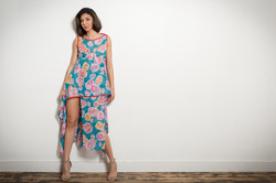 Asian Panel Dress (Floral)