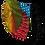 Thumbnail: Multi Color Prism Elastic Strap Reversible Mask