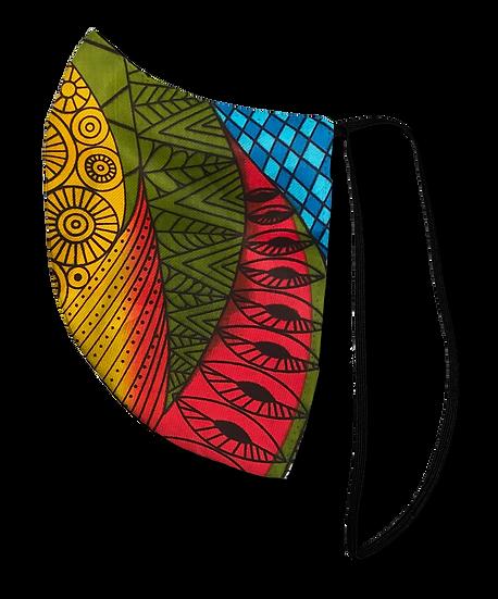 Multi Color Prism Elastic Strap Reversible Mask