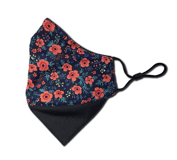 Tiny Floral Adjustable Ear Loop Reversible Mask