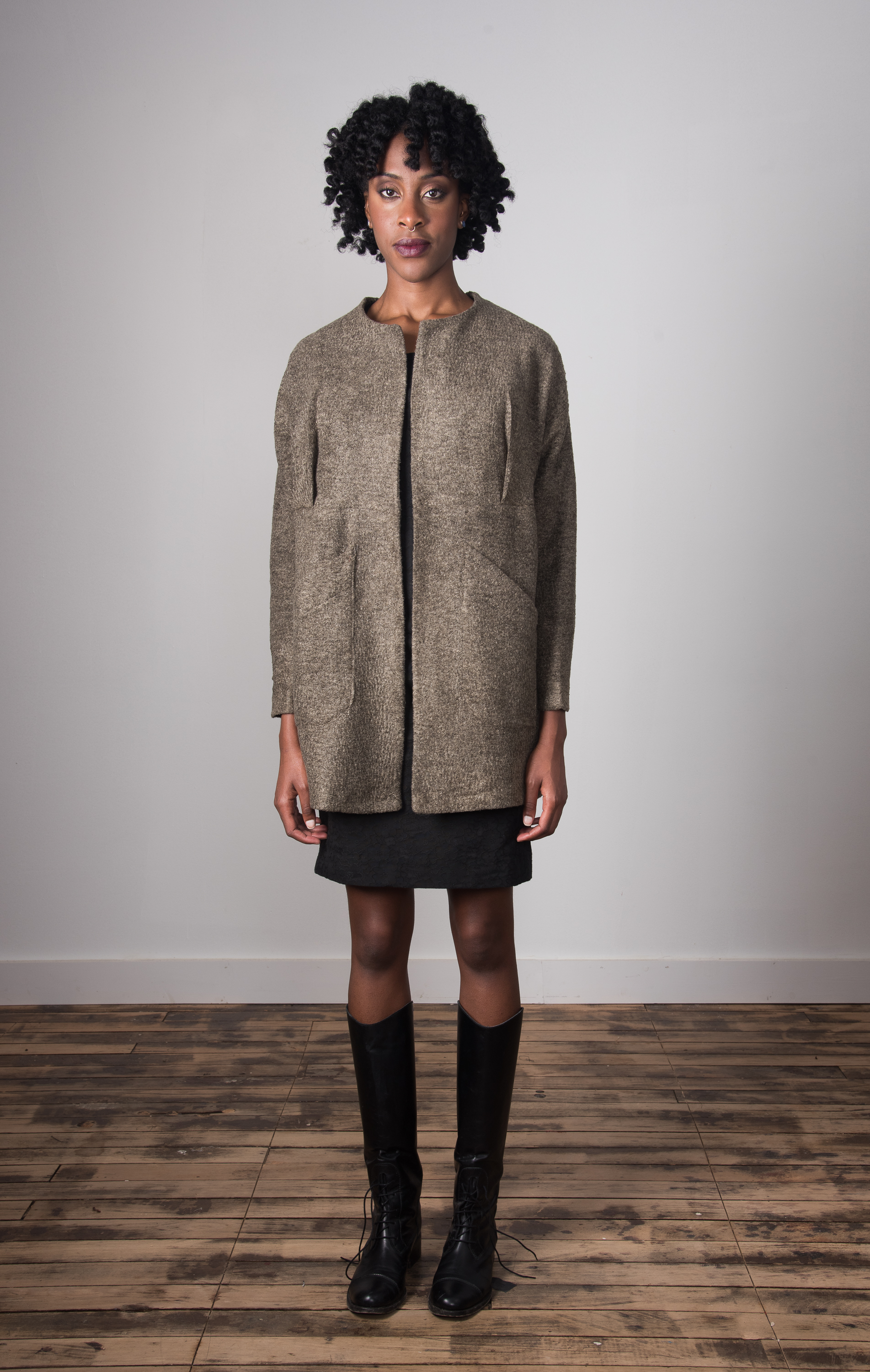 Clester Coat Closed - Taupe