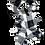 Thumbnail: Black & White Plaid Fringe Scarf & Ear Loop Mask Set