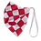 Thumbnail: Black/Red Check Elastic Strap Reversible Mask
