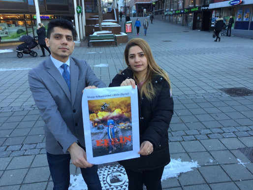 Kan ikke sitte rolig å se på uretten som skjer, inviterer til solidaritetsaksjon med Syria i gågata