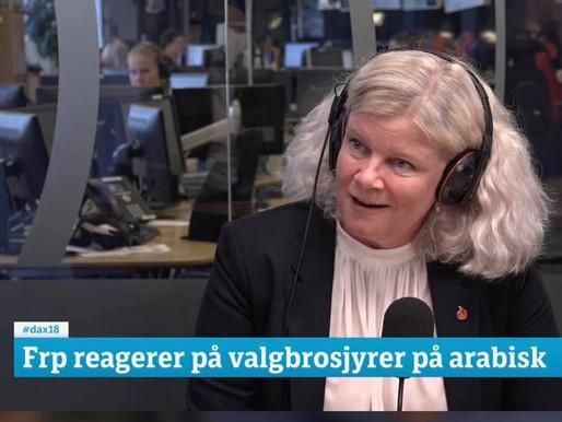 FAKKELTOG i Dagsnytt 18-TV