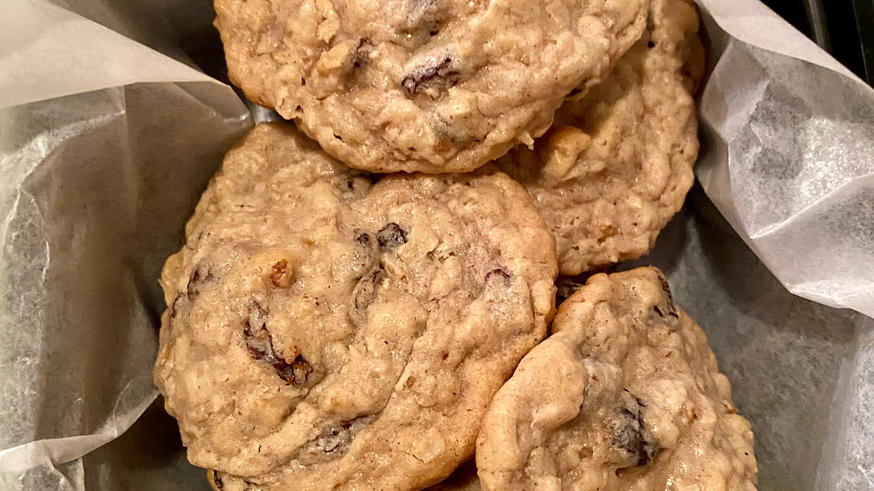 Oatmeal, Raisin, and Nut Cookies