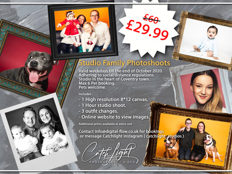 Discount Photoshoots till end of October 2020