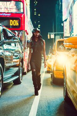 Naomi Brea at Times Square