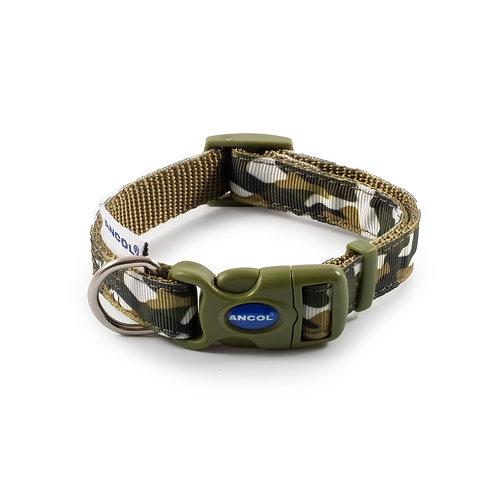 Ancol Green Combat Dog Collar