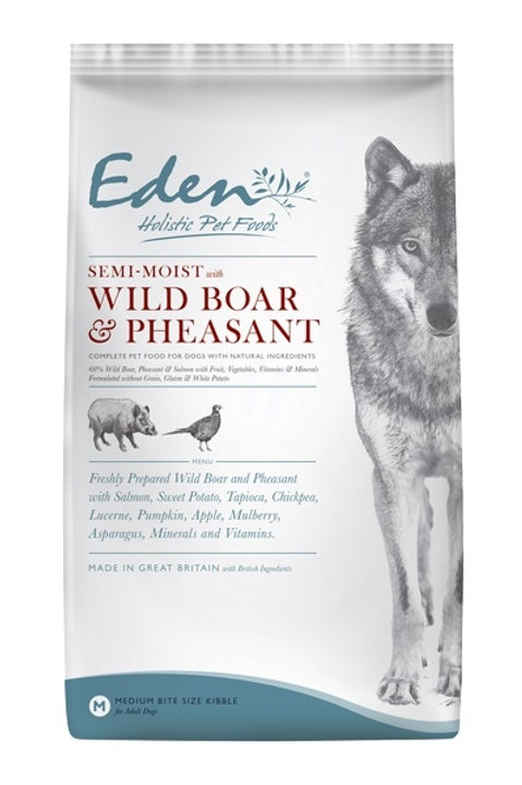 Eden Semi Moist Wild Boar & Pheasant Complete Dog Food With Natural Ingredients