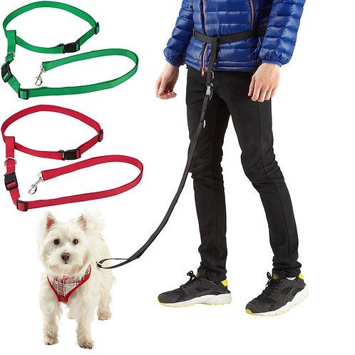 Adjustable Handsfree Dog Running / Jogging Waist Belt Lead Leash