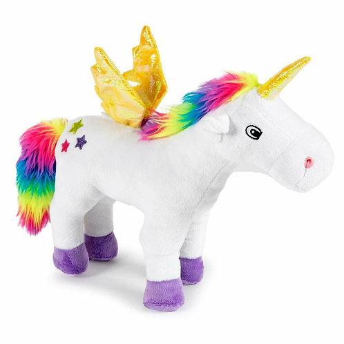 Ancol Rainbow Unicorn Soft Plush Dog Toy