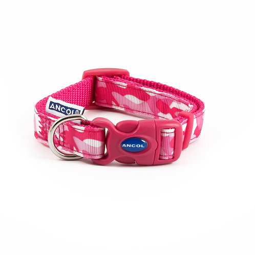 Ancol Pink Combat Dog Collar