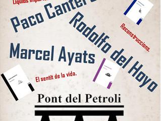 Poesia: Paco Cantero, Rodolfo del Hoyo i Marcel Ayats. Dimecres 31