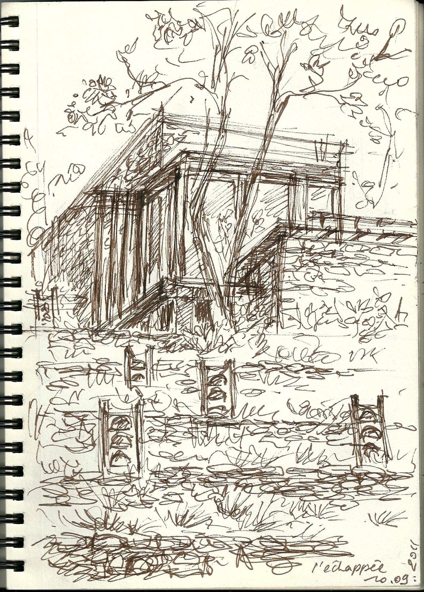 L'Atelier vu des terrasses