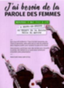 Paroles des femmes projets Bourg en Bres