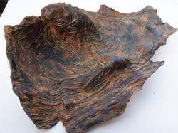 Grès-papier cuit au bois.