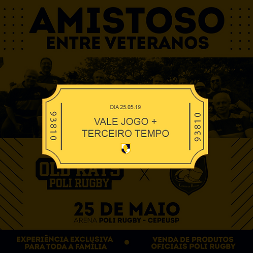 Ingresso Jogo + Terceiro Tempo - POLI Rugby