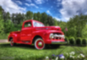 Look for the red truck as a point of reference!