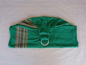 Ringsling - Babylonia BB sling (green peas) - DraagGraag