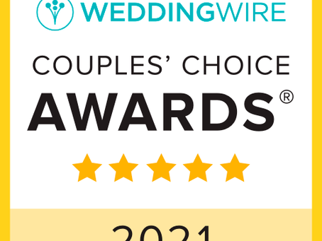 SEVEN YEARS IN A ROW: HPS ENTERTAINMENT WINS WEDDINGWIRE'S COUPLES CHOICE AWARD AGAIN