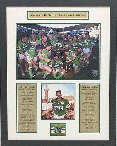 Canberra Raiders - Green Machine.   #21001RL