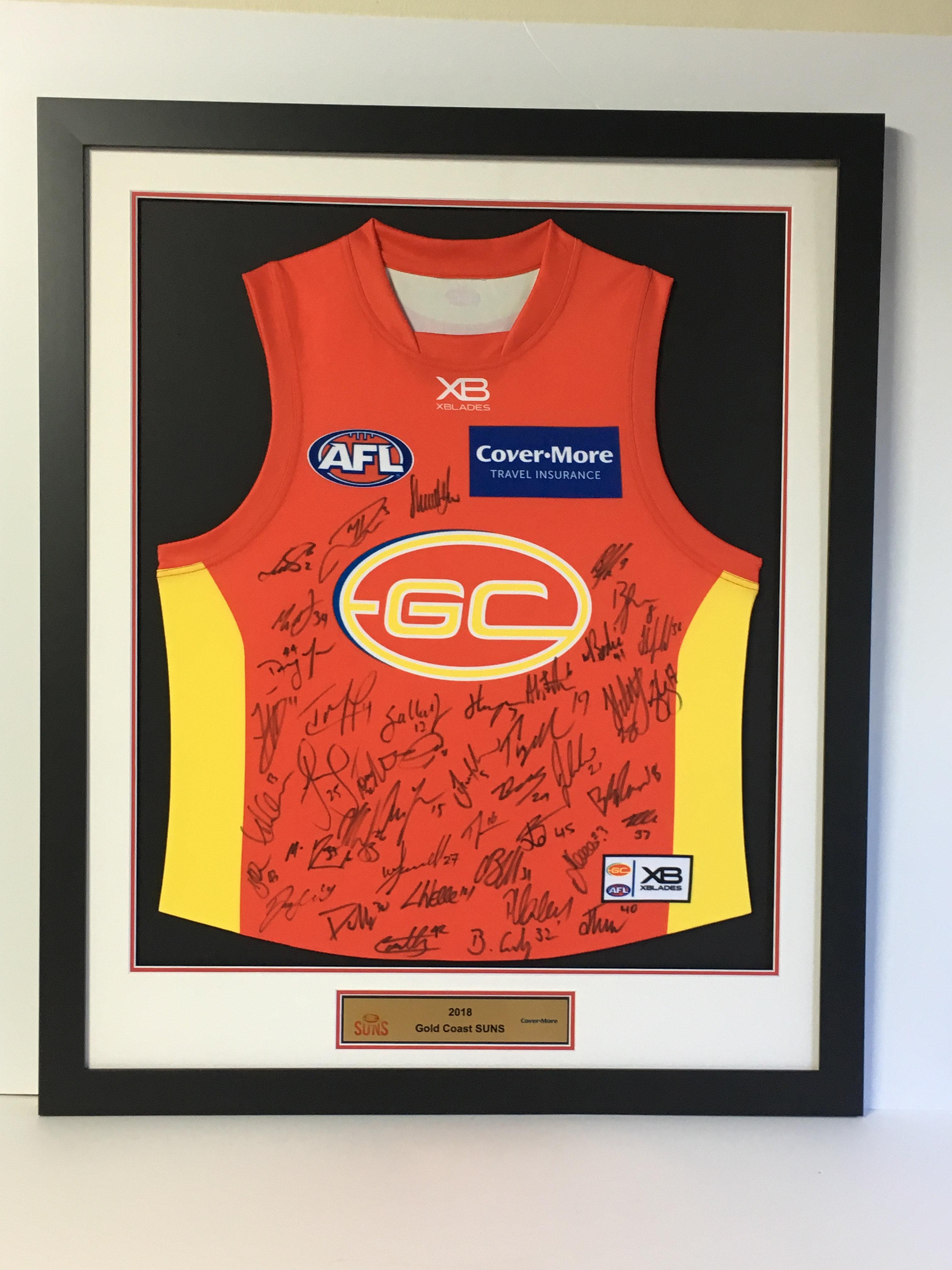 Legends Under Glass   Chatswood   Framing   Gold Coast Suns