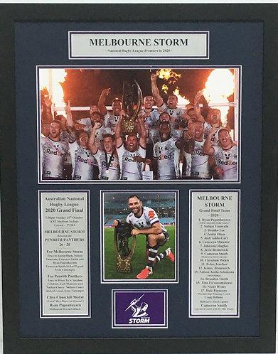 Melbourne Storm - NRL Premiers 2020.   #21011RL